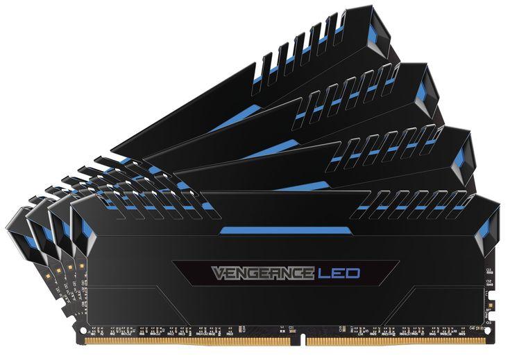 Corsair Vengeance LED 64GB DDR4 3000 C15 for DDR4 Systems - Blue LED PC Memory CMU64GX4M4C3000C15B
