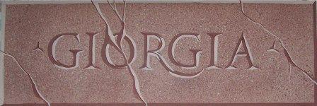 Incisione in finto granito (35*50cm)