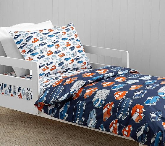Organic Cars Toddler Duvet Cover