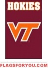 "Virgina Tech Hokies Applique Banner Flag 44"" x 28"""