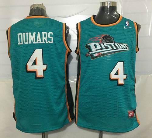 Detroit Pistons #4 Joe Dumars Throwback green jerseys