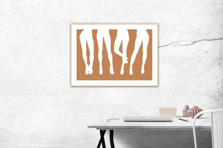 Four pair of legs - Illustration by MSaHomeDesign on Etsy