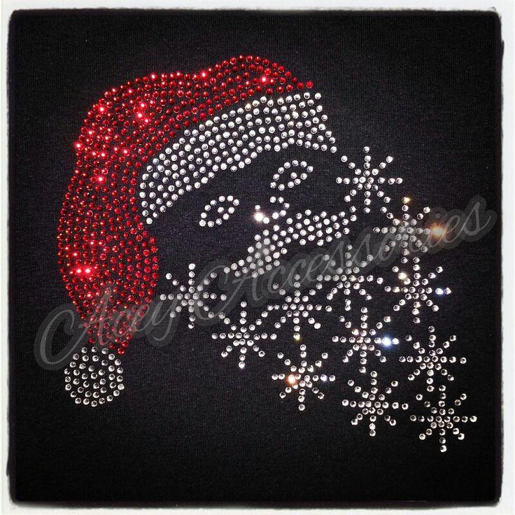 Santa rhinestone shirt