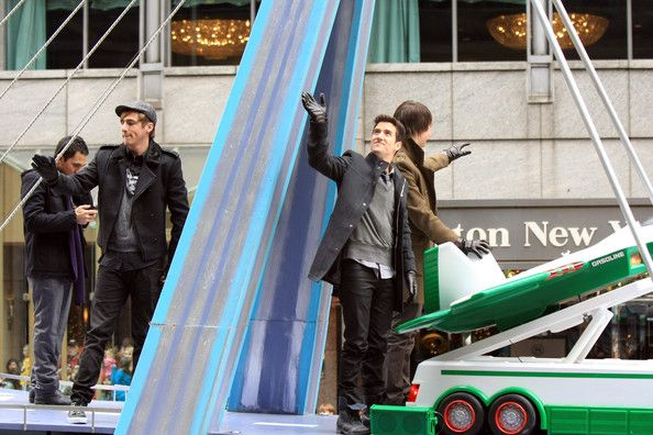 James Maslow and Logan Henderson Photos Photos - Kendall Schmidt, James Maslow, Carlos Pena, Logan Henderson of Nickelodeon's Big Time Rush ride down Broadway on Bridge To The Future Float for the 84th annual Macy's Thanksgiving Day Parade on November 25, 2010 in New York City. - Nickelodeon at the 84th Annual Macy's Thanksgiving Day Parade