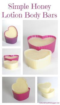 Simple Honey Lotion Body Bars - You can use the basic recipe idea for this simple lotion bar and then substitute you own flavours.
