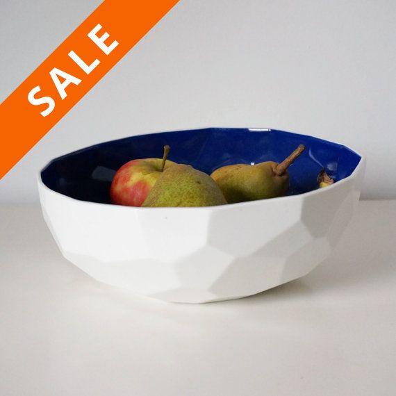 Modern porcelain fruit bowl - large bowl for fruit - decoration bowl - large plate