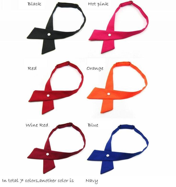 crossover solid butterflies butterfly bowknot bow tie knot bowtie men's necktie women's neck ties polyester ascot cravat 7colors