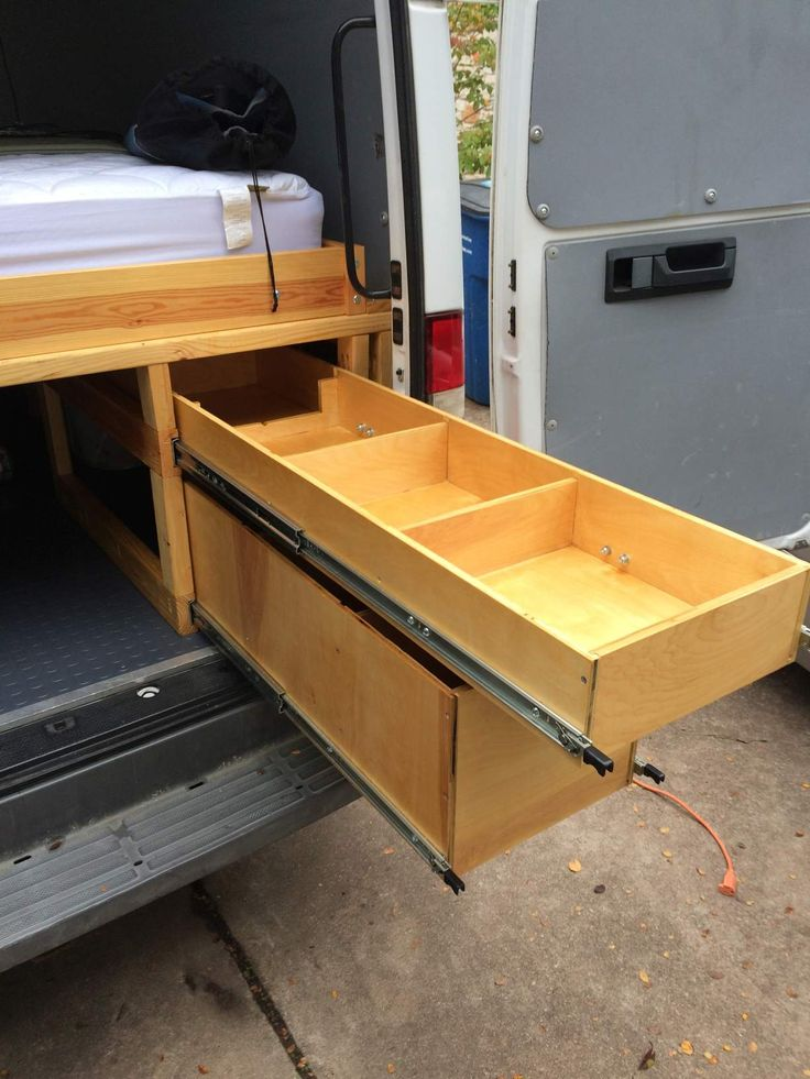 This Is A Detailed Post On How To Build Heavy Duty Storage Drawers For The Rear In Sprinter Van