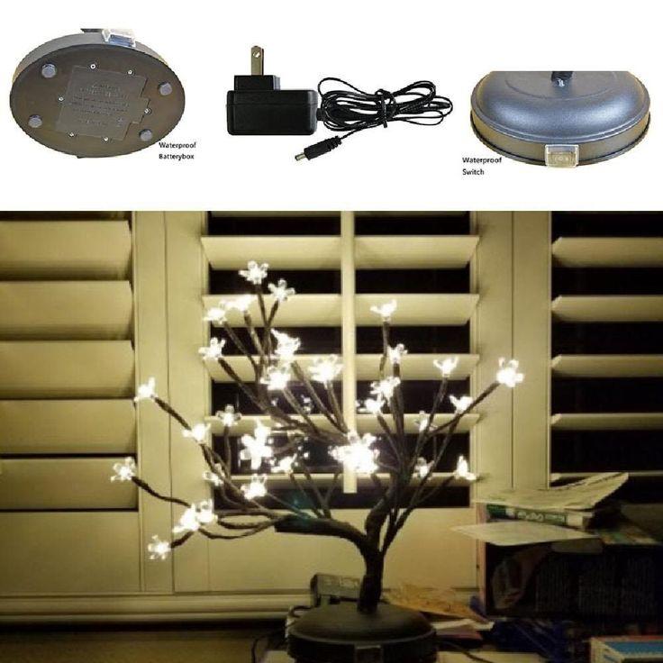 36 LED Cherry Blossom Bonsai Tree Warm White Valentine Gift Light Table Lamp NEW #Lightshare
