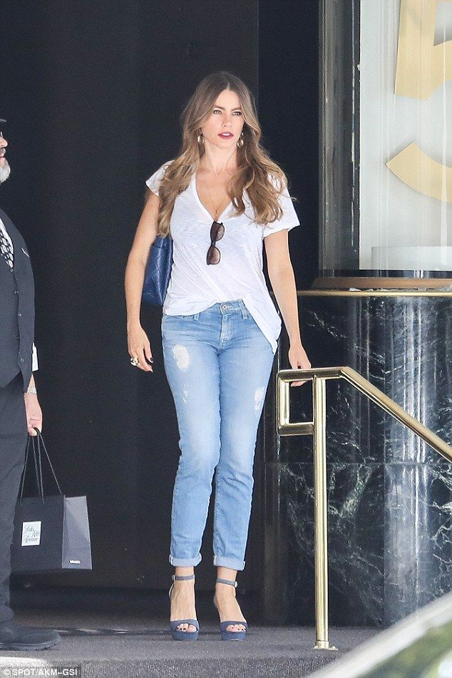 Loves those jeans! She wore an almost identical outfit on October 28 at Saks