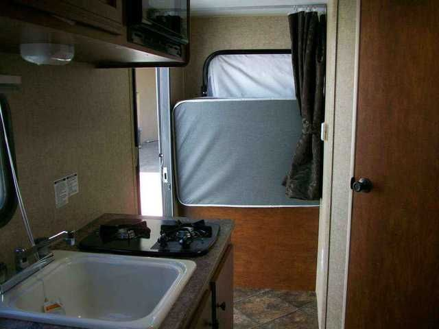 "2016 New Kz Rv Sportsmen Classic 18 RBT Travel Trailer in New Jersey NJ.Recreational Vehicle, rv, 2016 KZ RV Sportsmen Classic 18 RBT Tented Bed Ends! Good things come in small packages...towable by smaller tow vehicles. Includes all you need to have the best get-away! Large tented bed ends...use 1 or two. Dinette converts to extra sleeping area. 70"" gaucho for relaxing or sleeping area. Complete galley with 2 burner gas hot plate, microwave, refrigerator, sink, overhead cabinets. Bath with"