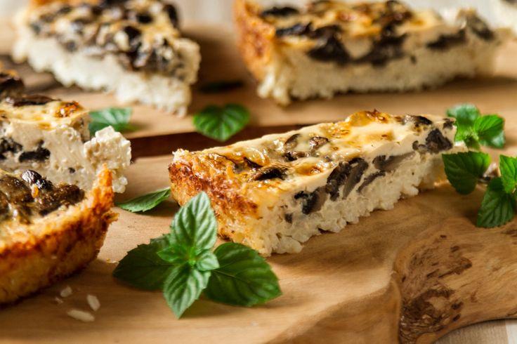 Gluten free mushroom tart! Enjoy this recipe for lunch or for brunch!!!
