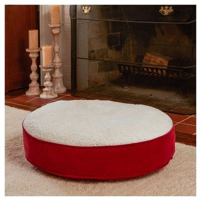 Greendale Fashions Happy Hounds Scout Deluxe Round Dog Bed - Crimson (Red) - Small