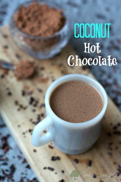 Coconut Hot Chocolate / GoodGirlGoneGreen.com