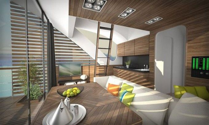 Boat hotel features private catamaran pods | Hotel Interior Designs