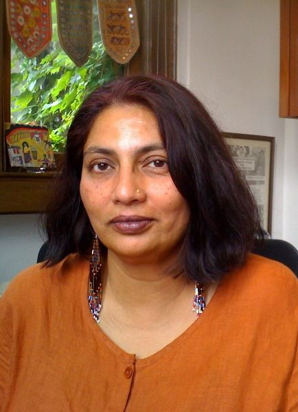 """Chandra Talpade Mohanty, transnational feminist and [co-] author of """"Feminism and War: Confronting U.S. Imperialism,"""" """"Feminism Without Borders: Decolonizing Theory, Practicing Solidarity (my fav!),"""" """"Feminist Genealogies, Colonial Legacies, Democratic Futures,"""" and """"Third World Women and the Politics of Feminism."""""""
