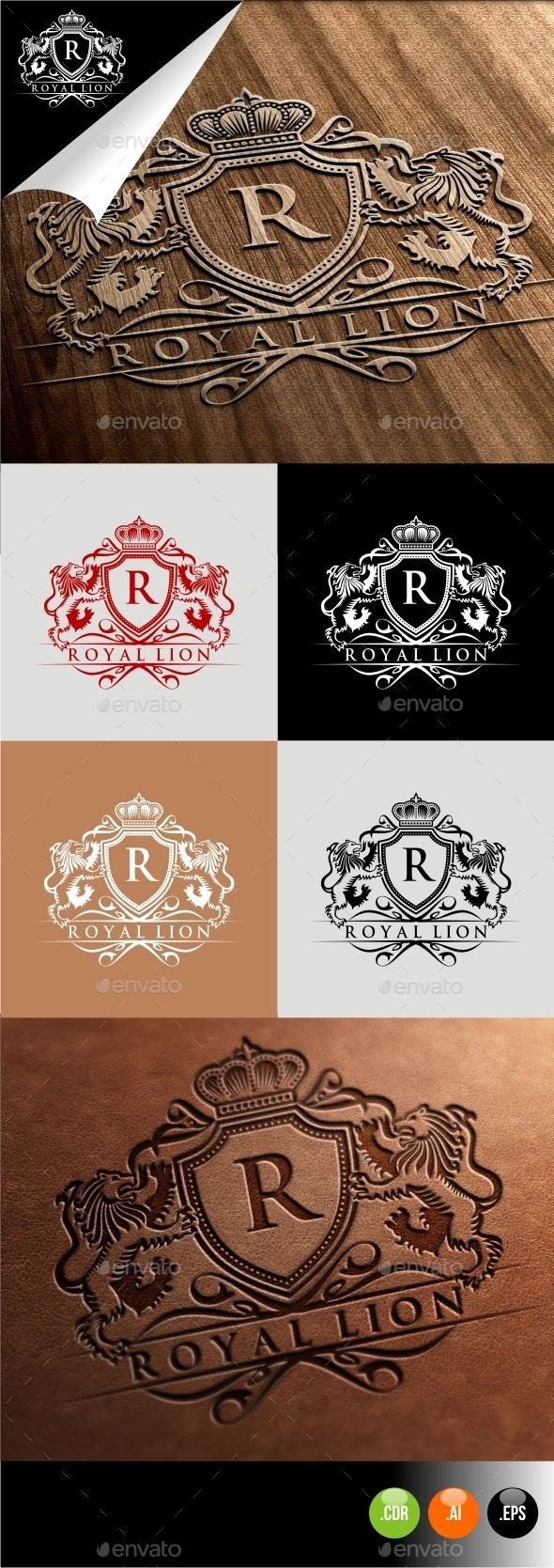 Royal Lion — Vector EPS #royal lion #royal brand • Download here → https://graphicriver.net/item/royal-lion/10262409?ref=pxcr
