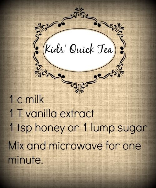 Quick Tea for Kids' Tea Parties - Shonna Slayton