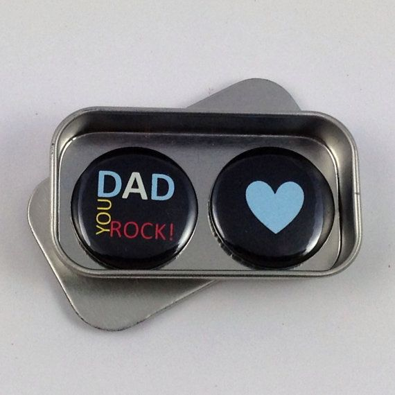 Dad You Rock Magnet Gift Set with Gift Tin Fathers Day Gift
