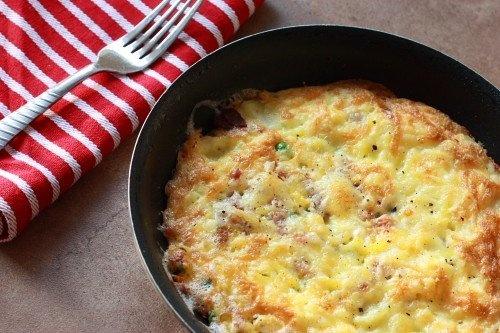 cheesy bacon and potato frittata | Food I want to try | Pinterest
