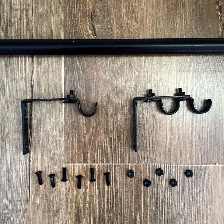 Diy Double Curtain Rod Brackets: 17 Best Ideas About Double Curtain Rods On Pinterest