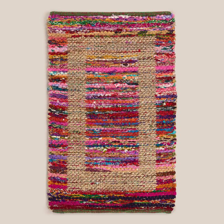 For the kitchen or bathroom?  2'x3' Jute Bordered Recycled Cotton Rug | World Market - $14.99