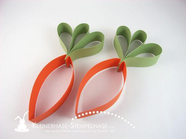 Stamoin Up Ostern Inspiration Wimpelkette simply created Fähnchen aufgetafelt Möhre Hase 11