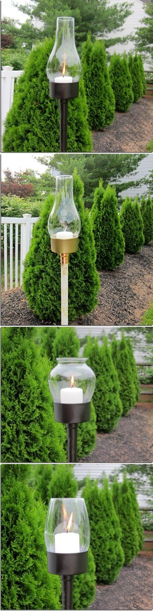 DIY Outdoor Candle Lanterns