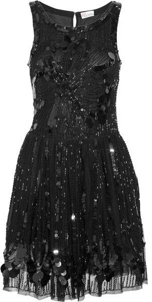 Embellished Mesh Dress by Red Valentino: Red Valentino, Mesh Dress, Valentino Embellished, Style, Little Black Dresses, Lbd