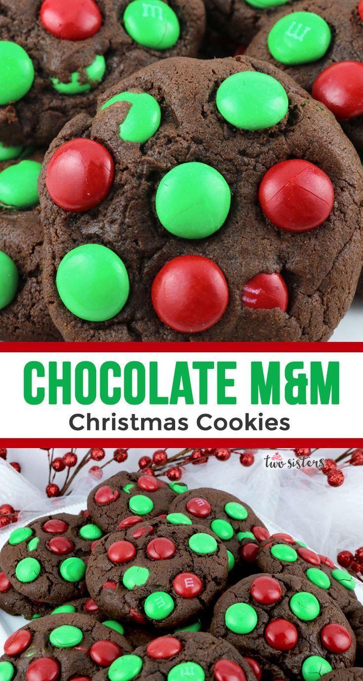 Chocolate mm christmas cookies recipe christmas
