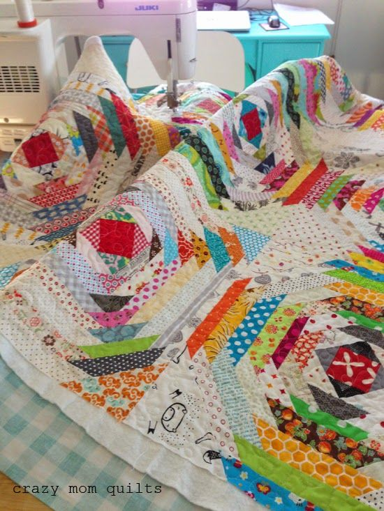crazy mom quilts: pineapple quilt block - brights vs low volume