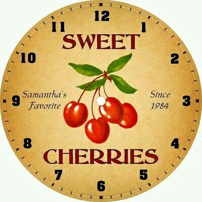 Clock Face Cherries