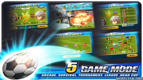 Head Soccer v5.4.5 (Mod Money)Requirements: 2.2 +Overview: Move to the side, hard-to-control soccer !  Move to the side, hard-to-control soccer !A soccer game with easy controls that everyone can learn in 1 second.Beat the...