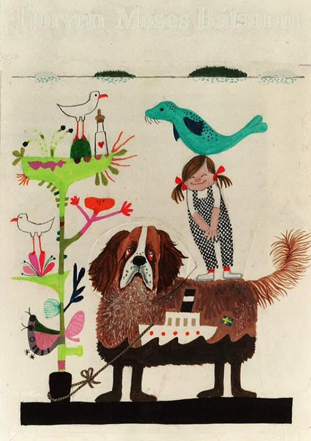Illustration for children book by Swedish graphic designer Olle Eksell