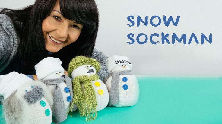 How to make a snow sockman #crafts #ChristmasCrafts #socksnowman