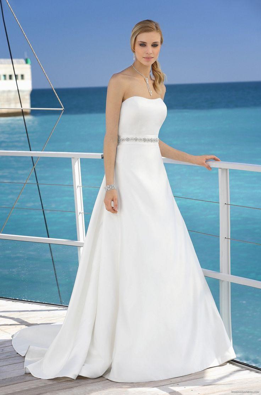 25 best Strapless Wedding Dresses images on Pinterest | Wedding ...