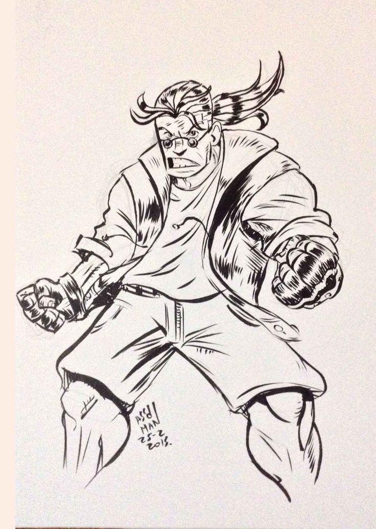 sketch turner - comix zone  (brush pen)