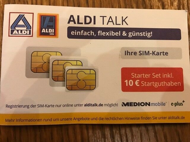 Triple Sim Karte Aldi.Ebay Sponsored Aldi Talk Starter Set Inkl Triple Sim Karte Mit