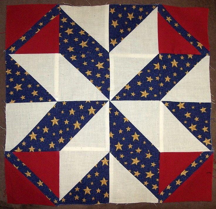 64 best quilts blocks images on Pinterest | Quilt block patterns ... : star flower quilt block pattern - Adamdwight.com