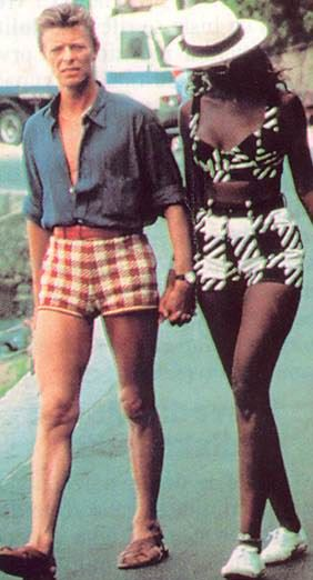 Bowie and Iman~I really want to comment on Bowie's shorts, but alas there are no words~JN