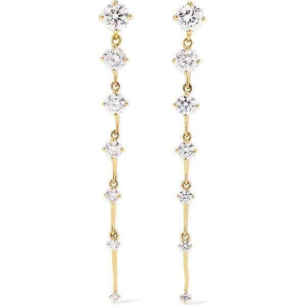 Multi Sequence 18kt gold & diamond earrings Fernando Jorge SllXo