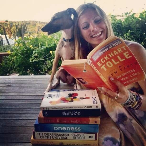 Rachel Brathen Yoga. can spot some great books in the pile