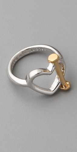 marc by marc jacobs: Cute Rings, Heart Toggl, Heart Rings, Marc Jacobs, Gold, Edge Heart, Jacobs I, Jacobs Rings, Love Boho