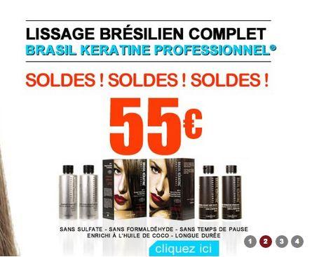 SOLDES ! SOLDES ! SOLDES sur le kit lissage brésilien +entretien de Brasil Kératine :-) 55€ au lieu de 89€