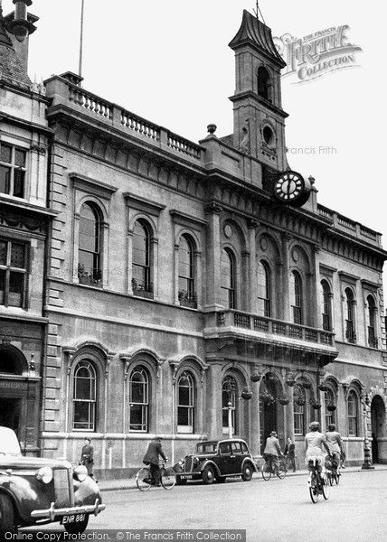 Loughborough, The Town Hall c.1955, from Francis Frith