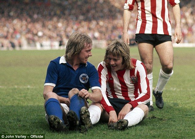 26th April 1975. Leicester City legend Alan Birchenall caused an outrage with Sheffield United's Tony Currie when the player s jokingly kissed.