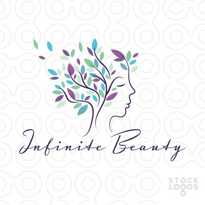 Logo Sold Beautiful, elegant logo design, that transforms a simple tree into something extraordinary. Flowing graceful lines join together to form both the impression of a tree as well as a beautiful woman's face profile.