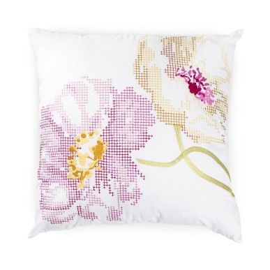 Embroidered scatter cushion