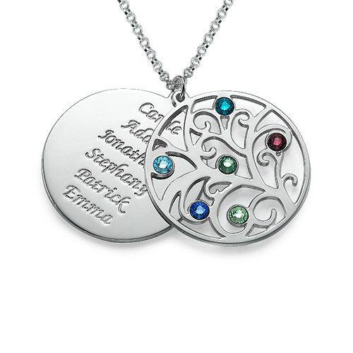LOVE this! Saving it.. :) Filigree Family Tree Birthstone Necklace   MyNameNecklace