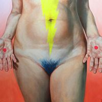 By Dorielle Caimi title: The Holiest of Holiest Oil on canvas 2015